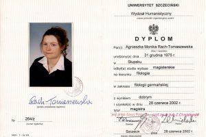 Dyplom filologii germanskiej